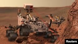 NASA tarapyndan görkezilen animasiýa syýahatçy robotyň missiýasyny suratlandyrýar.