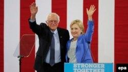 Senatori Bernie Sanders së bashku me kandidaten demokrate për president, Hillary Clinton - 11 korrik 2016