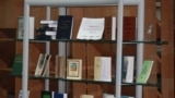 Мұстафа Шоқай шығармаларына арналған кітап көрмесі. Алматы, 12 желтоқсан 2013 жыл.