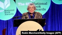 Imagine făcută pe 19 noiembrie 2014. Ursula K. Le Guin la National Book Awards