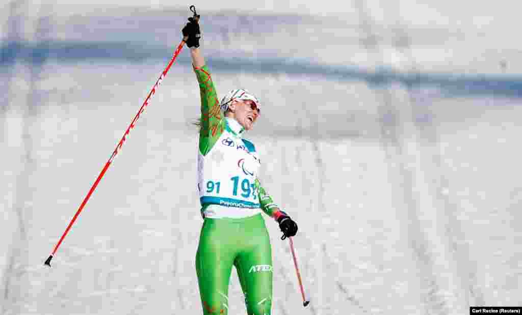Белорусская паралимпийская лыжница и биатлонистка Светлана Суханенко