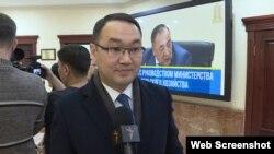 Сыртқы істер министрінің орынбасары Ержан Ашықбаев. Нұр-Сұлтан, 6 ақпан 2020 жыл.