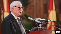 Претседателот на Сојузот на борци на Македонија, Тодор Атанасовски.