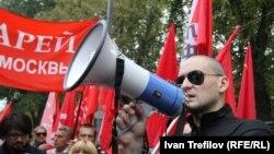 Сергей Удальцов на одной из акций протеста