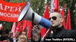 """Сергей Удальцов на """"Марше миллионов"""" в сентябре 2012 года"""