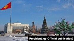 Площадь Ала-Тоо в Бишкеке.