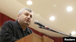 Outgoing South Ossetian leader Eduard Kokoity in Tskhinvali on December 5