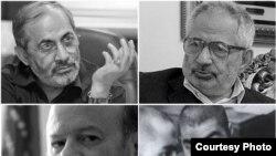 محسن رفیقدوست (بالا چپ)، محمدمهدی عبدخدایی(بالا راست)، محمد واحدی (پایین راست) و انیس نقاش