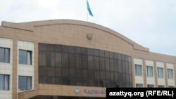 Здание акимата Карасайского района Алматинской области.