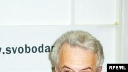 Валентин Гефтер в студии Радио Свобода