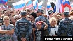 Митинг-концерт в честь Дня российского флага на проспекте Сахарова