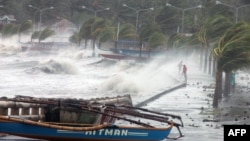 Тайфун на Филиппинах. Провинция Албай, 8 ноября 2013 года.
