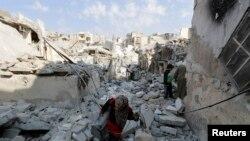 Pamje nga lufta civile në Aleppo të Sirisë