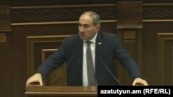 Armenia -- Opposition lawmaker Nikol Pashinian, 7Dec, 2017