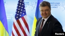 Петр Порошенко во время пребывания в США, 31 марта 2016 года