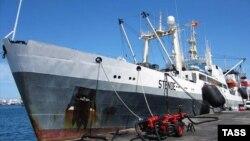 """До 2014-го года траулер """"Дальний восток"""" был приписан к порту Риги и носил название """"Stende"""""""
