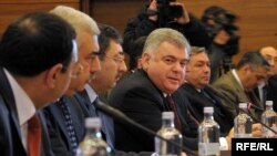 ზია მამედოვი, აზერბაიჯანის ტრანსპორტის მინისტრი ბაქო-თბილისი-ყარსის სარკინიგზო პროექტის საკოორდინაციო საბჭოს მერვე სხდომაზე