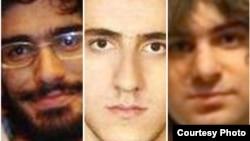از چپ، محسن روح الامینی، محمد کامرانی و امیر جوادیفر