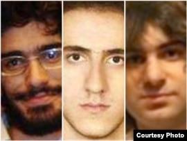سه تن از قربانیان بازداشتگاه کهریزک: محسن روحالامينی (چپ)، محمد کامرانی و امير جوادیفر (راست).