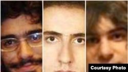 سه تن از قربانیان بازداشتگاه کهریزک؛ از راست به چپ: امیر جوادیفر، محمد کامرانی، محسن روحالامینی