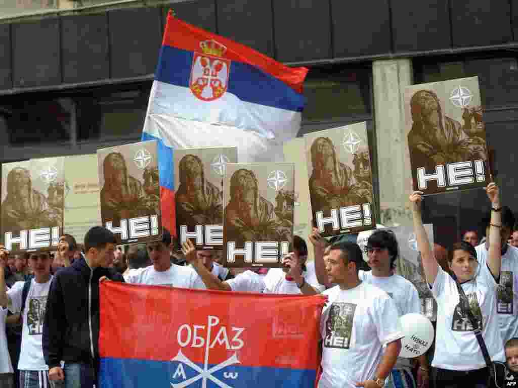 Protesti protiv NATO-a, Beograd, 12. juni