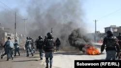 Protestat në Kabul, 22 shkurt