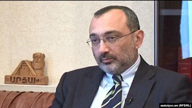 Nagorno-Karabakh -- Karabakh Foreign Minister Karen Mirzoyan is interviewed by RFE/RL Armenian Service, Stepanakert, 14Apr2013