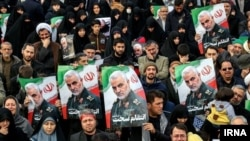 Iran Qods Force Commander Qassem Soleimani is mourned in Mashad on December 5.
