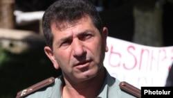 Armenia -- Colonel Volodya Avetisian, a Karabakh war veteran protesting against the government.