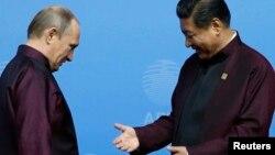 Vladimir Putin və Xi Jinping - 2014