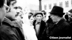 Фәүзия Бәйрәмова Хәтер көнендә. Казан, 1991 ел