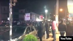 د یکشنبې په شپه په بوشهر کې د مظاهرو یو انځور