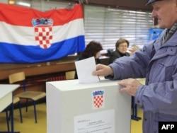 Glasanje na referendumu o ulasku Hrvatske u EU, 22. januar 2012.