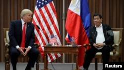 Donald Trump și Rodrigo Duterte, Manila, 13 noiembrie 2017