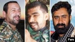 Suriyada öldürülən iranlı komandirlər Ezzat ul-Llah Soleimani (solda), Saeed Ali Hosseini Alami (ortada) və Seyed Sajjad hosseini