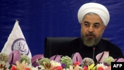 """Iranian President Hassan Rohani called the sanctions an """"oppression."""""""