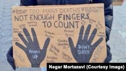 Foto nga një protestë e mëhershme në SHBA kundër vrasjeve nga policët.