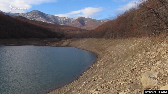 Изобильненское водохранилище, январь 2020 года