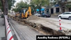 Замена коммуникаций в Баку, ноябрь 2015 года