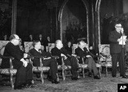سخنرانی وزیر خارجه وقت بریتانیا در زمان تشکیل پیمان بروکسل در مارس ۱۹۴۸