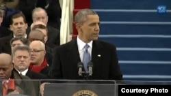 Барак Обама перед принятием присяги