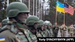 Церемонія відкриття українсько-американських військових навчань на Яворівському полігоні, квітень 2015 року