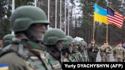 Церемонія відкриття спільних українсько-американських військових навчань на Яворівському полігоні, 20 квітня 2015 року