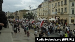 У Польшчы адзначаюць 70-годзьдзе Валынскай трагедыі. Варшава, 11 ліпеня 2013 году