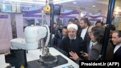 Президент Ірану Хасан Рогані під час відзначення Національного дня ядерних технологій в Тегерані, 9 квітня 2018 року