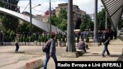 Pamje nga ura mbi lumin Ibër në Mitrovicë