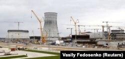 Будоўля на БелАЭС, архіўнае фота 2016 году