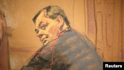 Evgeny Buryakov is pictured in court in New York in January 2015.