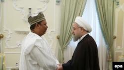 Iranski predjednik Hasan Rohani sa generalnim sekreatrom OPEK -a, Mohamedom Barkindom u Teheranu 6. septembra 2016.