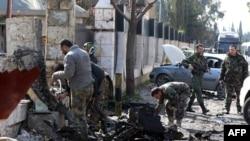 Наслідки атаки самогубця в а передмісті Дамаска Барзе, лютий 2016 року